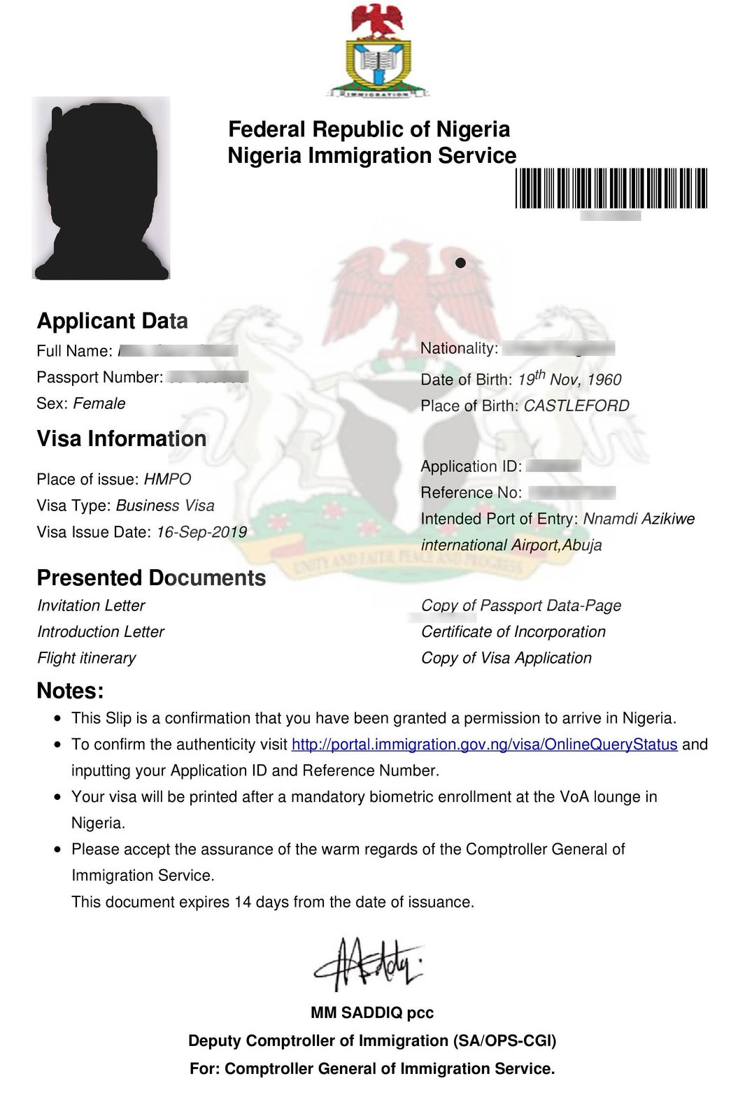nigeria visa on arrival for indian citizens