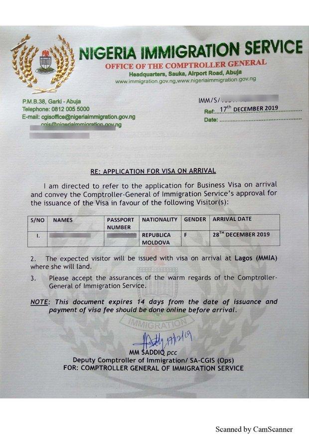 nigeria visa on arrival for moldova babies